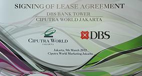 Siging Lease Agreemen Ciputra dengan DBS