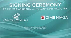 Signing CWJ 1 with CIMB Niaga